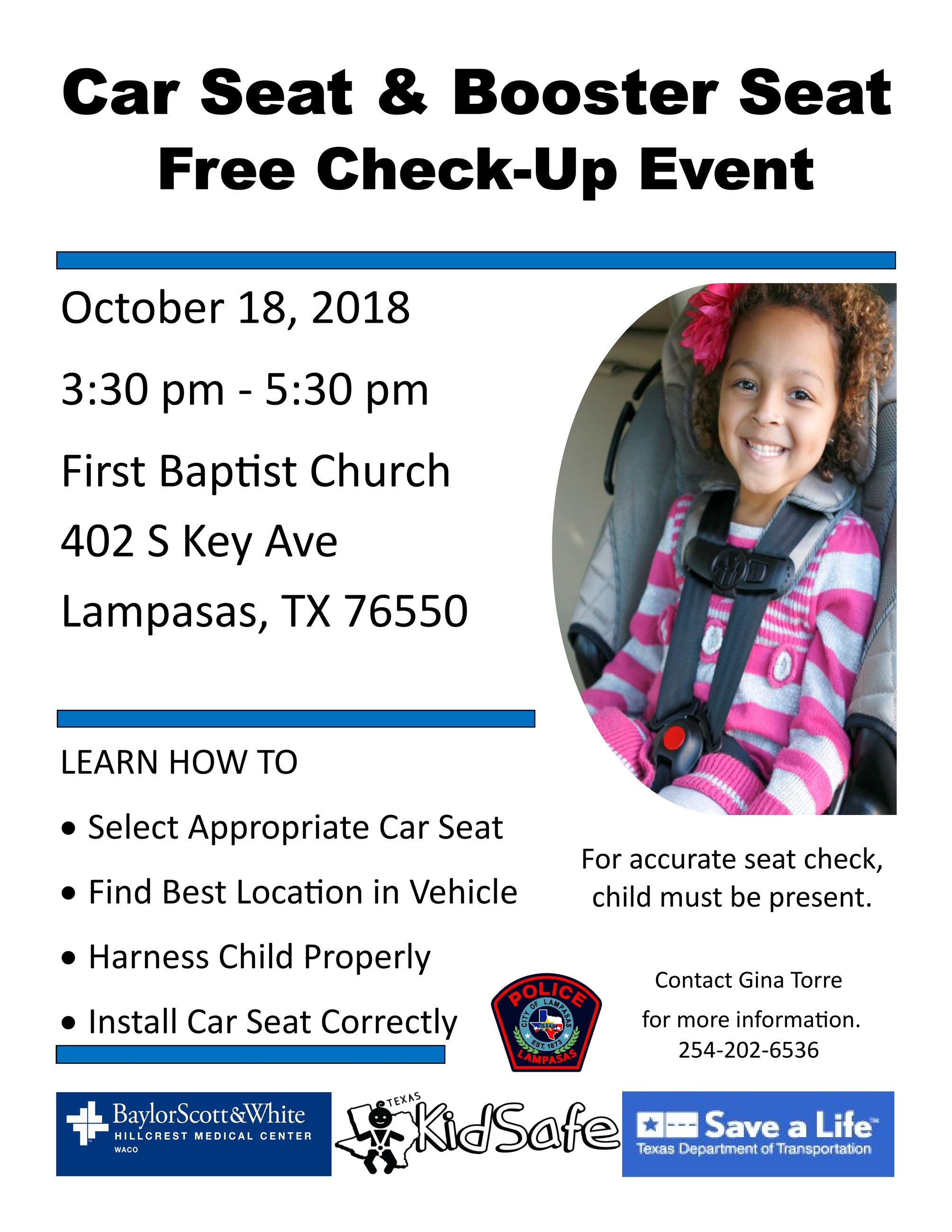 car seat and booster seat free checkup event_001
