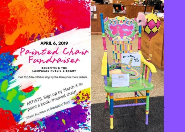 painted chair fundraiser