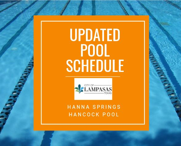 2019 Pool Season Schedule