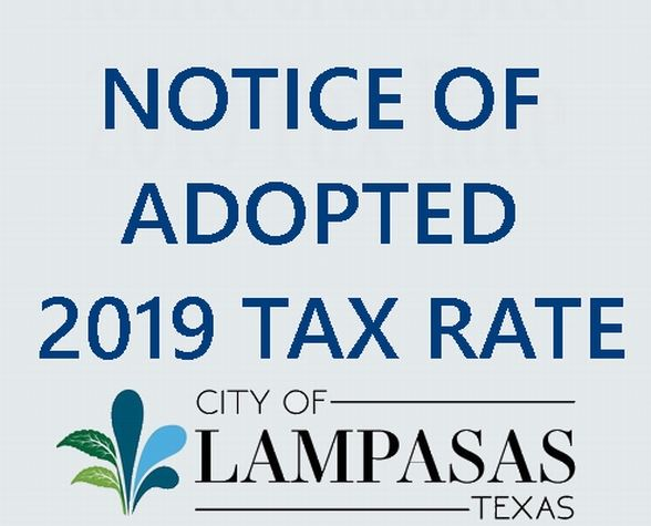 2019 adopted tax rate