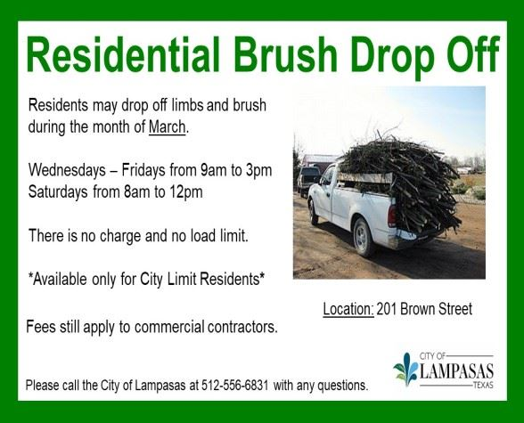 Residential Brush Drop Off