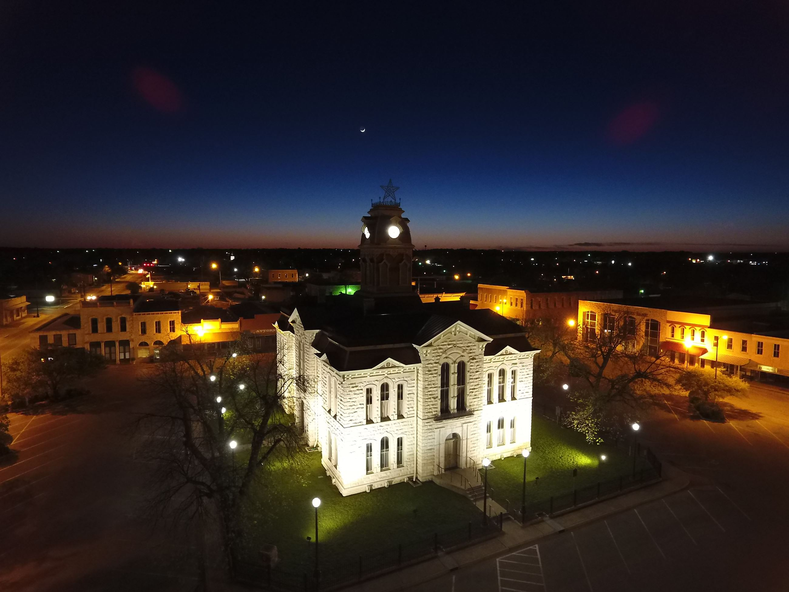 Downtown County Courthouse Night