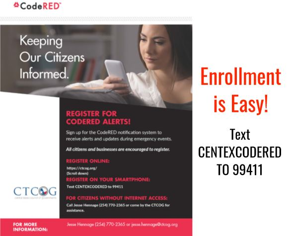 Text Code Red Enrollment